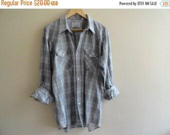 SALE Western Craft Plaid Shirt Soft Cotton size L Large
