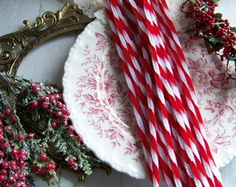 Christmas Twist Chenille Stems, Candy Cane Pipe Cleaners, Candy Cane Chenille Twists, Holiday Chenille Stems, Chenille Stems, Christmas