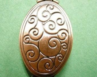 2pc antique copper finish photo pendant-3540