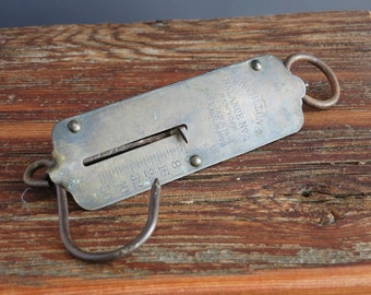 Antique Chatillon's Spring Balance Scale - 50 lb Spring Pocket Scale - Chatillon's Balance No 2 New York, Patent Date 1892 - Hanging Scale