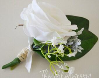 Garden boutonniere / Wedding boutonniere / Boutonniere / Silk boutonniere / Wedding buttonhole / Boho boutonniere / Silk buttonhole