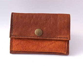 Leather Wallet Men, Brown Leather Wallet for men, Leather Card Holder, Man Wallet, Woman Leather Wallet