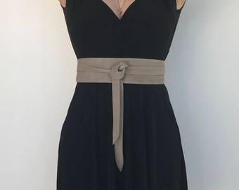 Soft Suede Leather Obi Belt, Wide Wrap Belts, Women Tie Belt, Wraparounds Fashion Belts