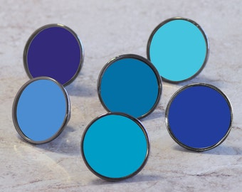 Blue Cupboard Cabinet Door Knobs