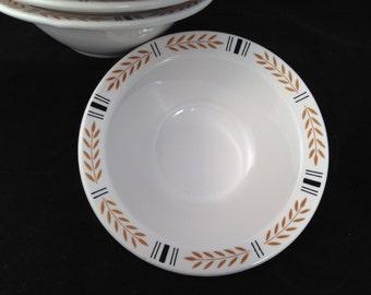 Homer Laughlin, Vintage restaurant ware, bowls, set of six,