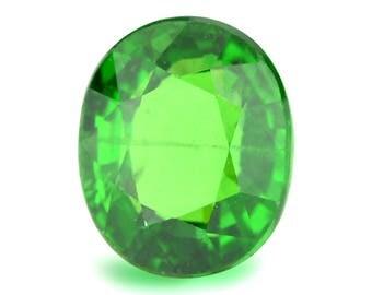 2.06ct Tsavorite Green Garnet Oval Shape Loose Gemstones (Watch Video) Free Shipping SKU 334A008