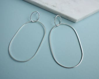 Big Oval Hoop Earrings