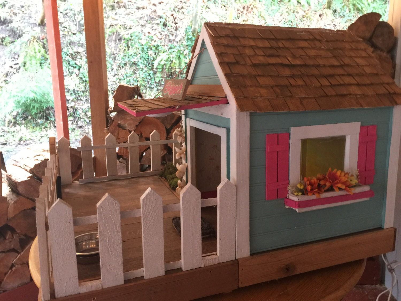 small beach cottage dog house indoor outdoor custom built