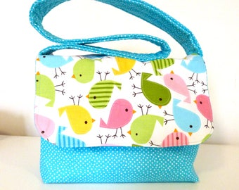 Child's Messenger Bag - Funky Chicks - Ready to Post