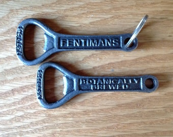 Fentimans bottle opener keyring cast iron