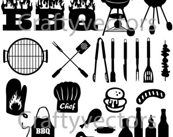 BBQ Silhouettes Vector File SVG