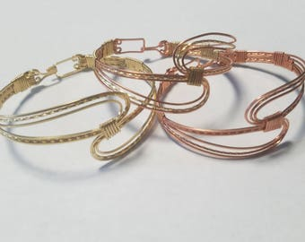 Double U copper bracelet