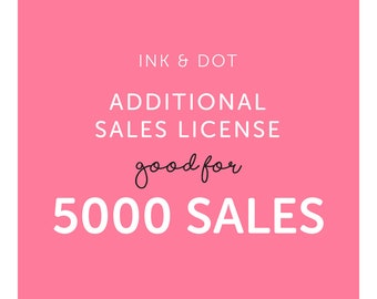 Additional Sales License for 5000 sales of One Clipart Set - Commercial Use of Digital Graphics and Clip Art Sets