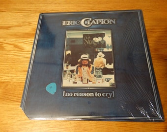 Vintage 1976 Eric Clapton No Reason To Cry Vinyl Record Album Carnival Country Jail Black Summer Rain Hungry Sign Language Rock Guitar Icon