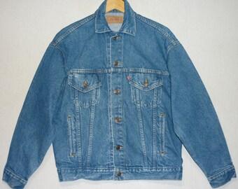 Vintage Levi's Jacket / S - M - L / Oversized / 1980's Levi's Jacket / Denim Jacket / 90's Levi's Jacket / Four Pocket / Trucker / Grunge