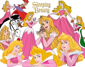 BEST collection of 100 Disney's SLEEPING BEAUTY Clipart - 100 high quality Sleeping Beauty clipart - 100 Aurora and Friends Graphics !!!