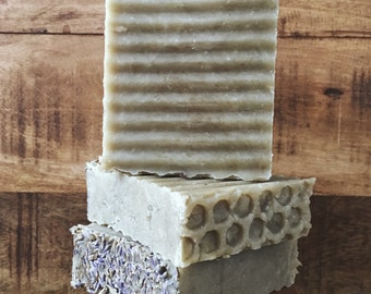 White Clay & Lavandin Organic Lather Bar Soap with Mango Butter
