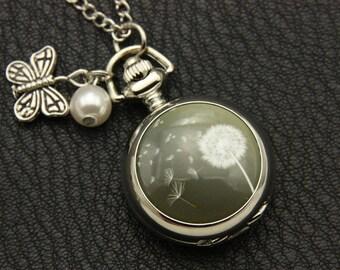 Necklace pocket watch Dandelion 2222M