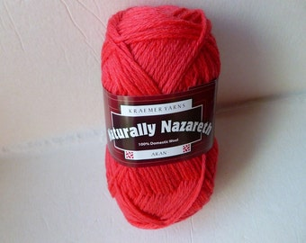 Yarn Sale  - Fire  Naturally Nazareth Aran by Kraemer Yarns