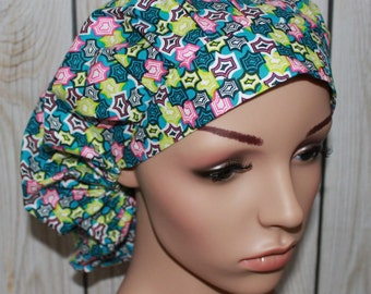 Global Bazaar,Bouffant Women's Scrub Hat, Surgical Scrub Hat, OR Nurses Scrub Hat, Scrub Cap