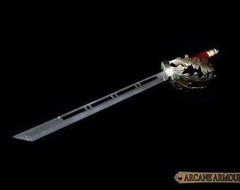 Pirate Short Sword /Steampunk Short Sword Ornamental cosplay Brass Stainless steel dull safe edge