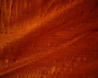 "Rust Hand Woven Raw Silk Dupion Multipurpose Drapery Fabric 55"" Wide 15 Yards Wholesale"