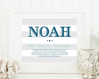 Name Meaning Art - Name Meaning Baby - Baby Room Name Art - Personal Baby Gift - Personalized Name Baby Boy Gifts - Baby Name Art