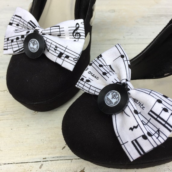 Betty Bow Music Notes Shoe Clips