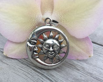 The Sun and the Moon pendant  sterling silver