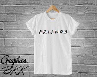 FRIENDS Shirt Friends T-Shirt Friends Tee Graphic Logo Unisex T-Shirt 90's Friends TV Show Shirt F.R.I.E.N.D.S shirt (S-XL) Free Shipping