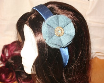 FINAL SALE - Blue Flower Headband