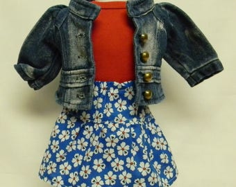 Jean Jacket Outfit For 18 Inch Doll Like American Girl