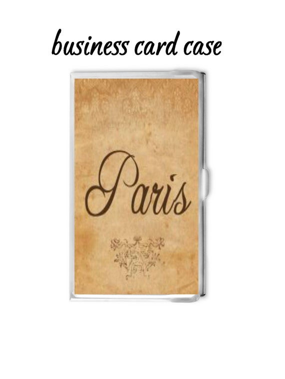 Items similar to Paris Business Card Holder Personalized