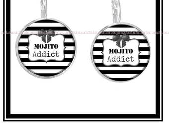 "Original earrings ""Mojito Addict"""
