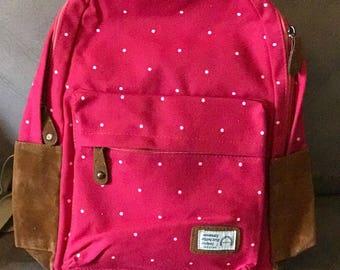 Pink Dots Book Bag
