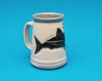 SALE: Shark Tankard, Beer Stein, Handcrafted Pint, ! Slight Second