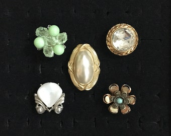 Vintage 'Naughty Bits' Lot Of 5 Rings | Adjustable Statement Rings