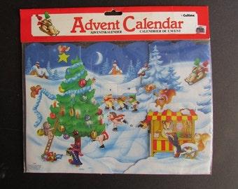 Hedgehog Advent Calendar Vintage Christmas Caltime Made in England NIP S217