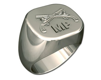Mens Army Military Police Ring
