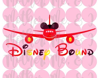 Disney Bound / Airplane / Mickey / Vacation SVG DXF PNG Cut File Instant Download Cricut and Silhouette Design for Shirts, Scrapbooks Disney