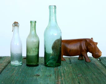 Vintage pharmaceutical bottles