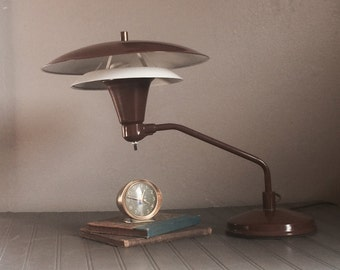 Vintage Mid Century Atomic Flying Saucer Lamp