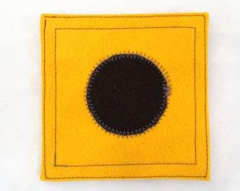 Nautical signal flag letter I wool felt coaster