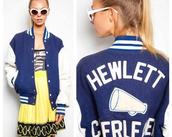 cutest vintage 50s/60s HEWLETT CHEERLEADER varsity college athletic bomber jacket