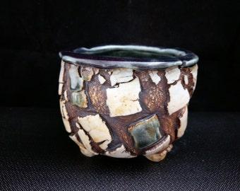 Chingwenarts. handmade  porcelain, succulents ,planter,with drain hole   #E186