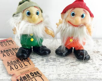 Set of Two Vintage Gnome Figures