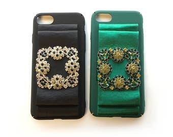 manolo iPhone 6/6s/7 /7 PlusCase rhinestones luxury case