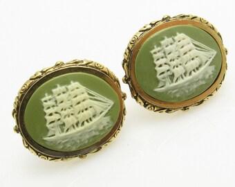 Clipper Ship Cufflinks Vintage Museum Masterpiece Dante Accessories Jewelry