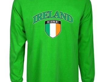 Ireland T-shirt men's green tee shirt Irish flag St Patrick's day