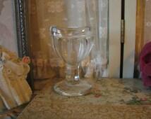 Vintage Glass Eye Cup 1930s Eye Medicine Cup Eye Wash Cup Vintage Curiosity Vintage Oddity Halloween Decor